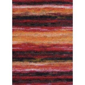 Lang Yarns Merino Dipinto 61 roze/oranje/rood/bordaux