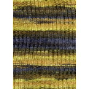 Lang Yarns Merino Dipinto 11 geel/bruin/jeans blauw