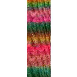 Mille Colori Socks & Lace Luxe 55 roze/groen/oranje