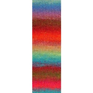 Lang Yarns Mille Colori Socks & Lace Luxe 51 blauw/roze/groen