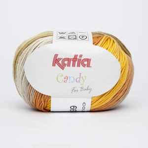 Katia Candy 667 Geelgroen - Steengrijs - Oranje