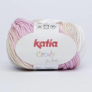 Katia Candy 661 Licht oranje - Bleekrood - Wit - Beige