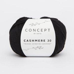 Katia Cashmere 30 zwart (209)