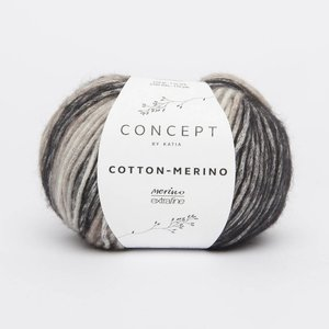 Cotton-Merino plus donkergrijs (207)