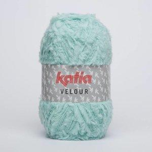 Katia Velour witgroen (62) op = op
