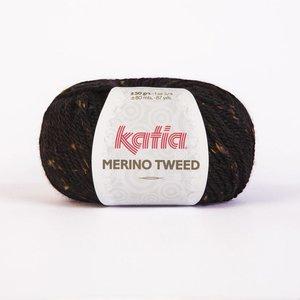 Merino Tweed zwart (409)