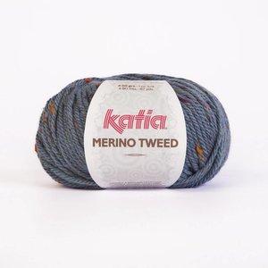 Merino Tweed blauw (405)