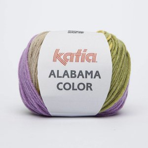 Katia Alabama color rood/geel/groen (104)