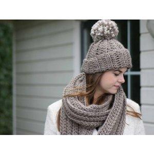 Haakpatroon Chunky Ribbelmuts en sjaal