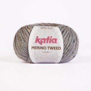 Merino Tweed licht grijs (307)