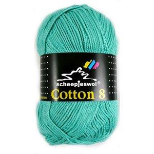 Cotton 8 licht blauw/groen (665)