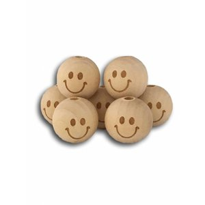 Houten Smiley kralen