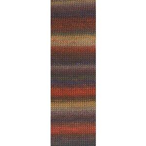 Mille Colori Socks & Lace 75 oranje / bruin / beige