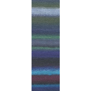 Lang Yarns Mille Colori Socks & Lace Luxe 06 blauw / groen