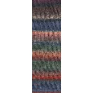 Mille Colori Socks & Lace Luxe 16 groen / bruin / oranje