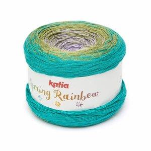 Spring Rainbow Lila/Groen/ Turquoise (60) op = op