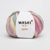 Washi print (312) bleekrood/geel/groen