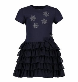 Le chic Le Chic Jurk Strass Steentjes Navy