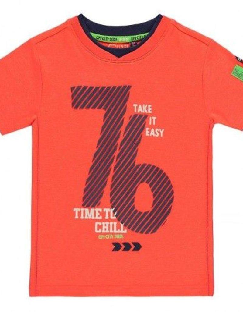 Quapi Quapi Kasper Shirt Print Orange