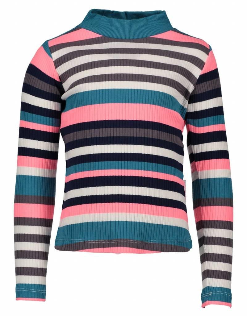 B-nosy B.Nosy Shirt Streep Navy/Coral