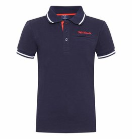 Mr Woods Mr Woods Polo Print Navy