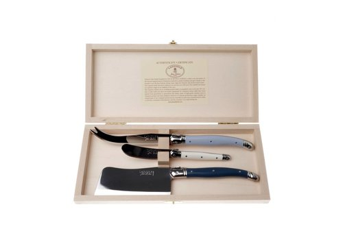 Laguiole Laguiole 3 Cheese Knives Nordic Mix in Box