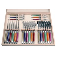 Laguiole Dinner Set 24 Pcs 2,5 mm Rainbow Mix in Box
