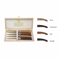 Laguiole 4 Steak Knives 2,5 mm Wood Mix in Box