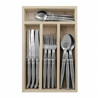 Laguiole Dinner Set 24 Pcs Stainless Steel in Tray