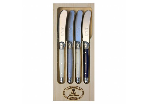 Laguiole Laguiole 4 Butter Knives Nordic Mix in Display