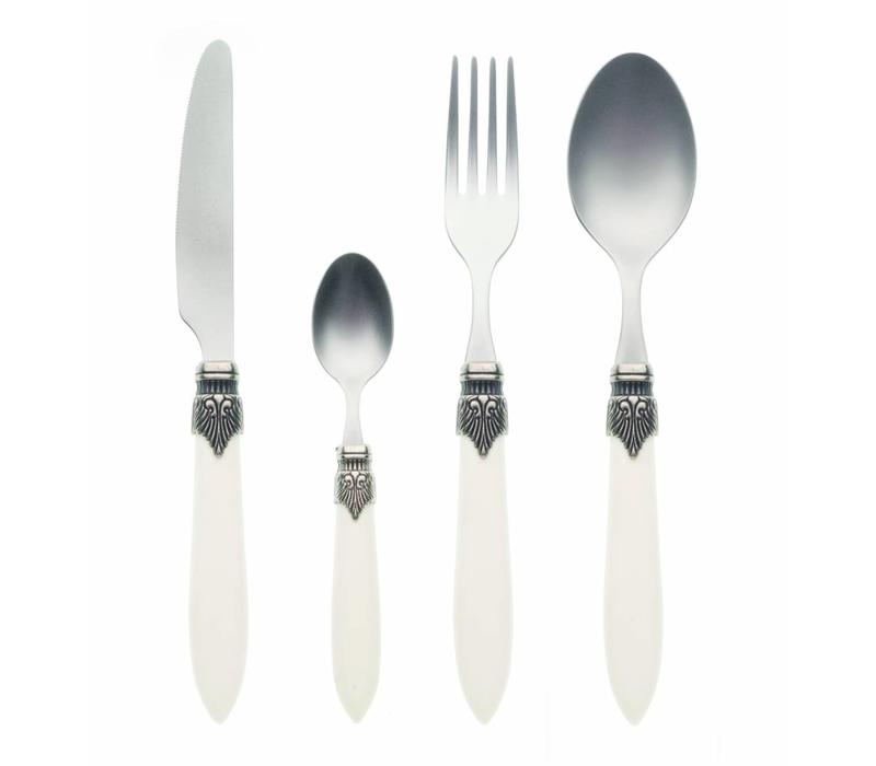 Murano 4 Piece Cutlery Set Matt Ivory