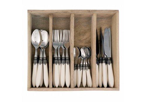 Murano Murano 24 Piece Cutlery Set Matt Ivory