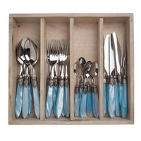 Murano 24 Piece Cutlery Set Turquoise