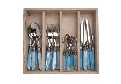 Murano Murano 24 Piece Cutlery Set Turquoise