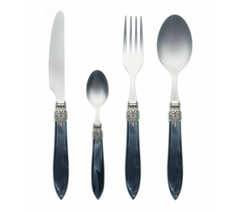 Murano 4 Piece Cutlery Set Anthracite