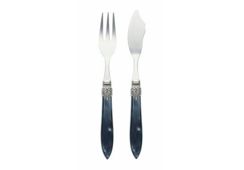 Murano Fish Cutlery Set (2-piece) Murano Anthracite