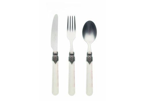 Vintage Breakfast Cutlery Set (3-piece) Vintage, Ivory