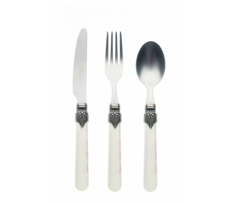 Breakfast Cutlery Set (3-piece) Vintage, Ivory