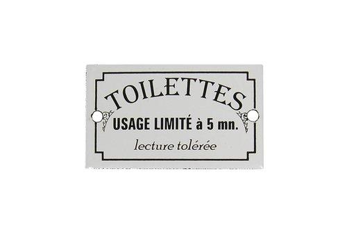 Au Bain de Marie Au Bain de Marie deurplaatje 'Toilettes usage limité', geëmailleerd metaal