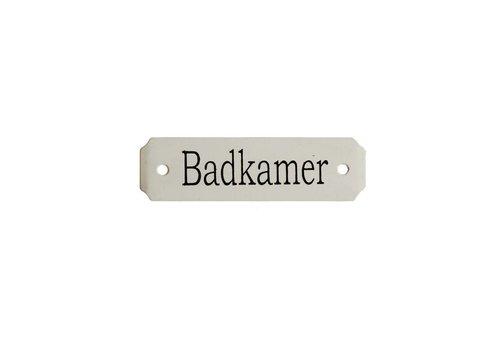 Au Bain de Marie Au Bain de Marie deurplaatje 'Badkamer', geëmailleerd metaal