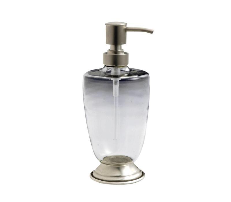 "Kom Amsterdam Soap Dispenseer ""Au Bain de Marie"" Glass/Metal"