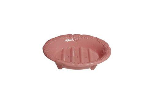 Au Bain de Marie Au Bain de Marie small oval soap dish 10x8xH3 cm, pink, aluminum
