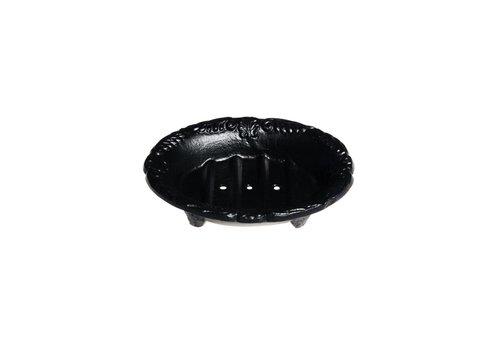 Au Bain de Marie Au Bain de Marie zeepbak mini ovaal 10x8xH3 cm, zwart,  aluminium