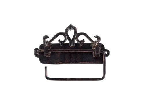 Au Bain de Marie Au Bain de Marie toilet roll holder hanging 17x3xH9 cm, iron, antique finish