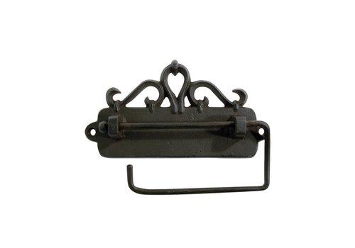 Au Bain de Marie Au Bain de Marie toilet roll holder hanging 17x3xH9 cm, iron, black
