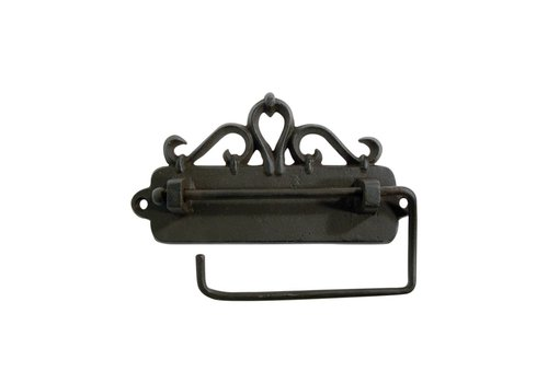 Au Bain de Marie Au Bain de Marie toiletrolhouder hangend 17x3xH9 cm, ijzer, zwart