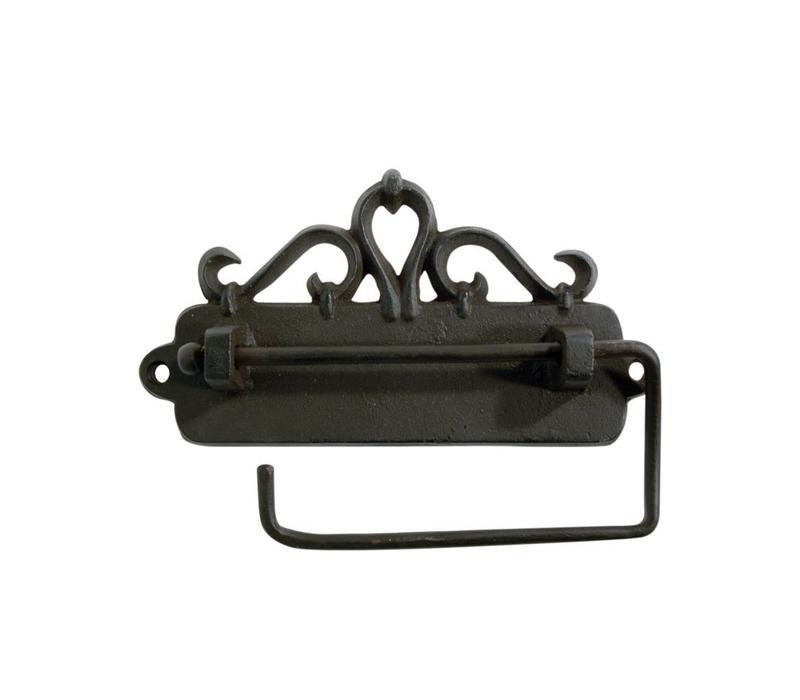 Au Bain de Marie toilet roll holder hanging 17x3xH9 cm, iron, black