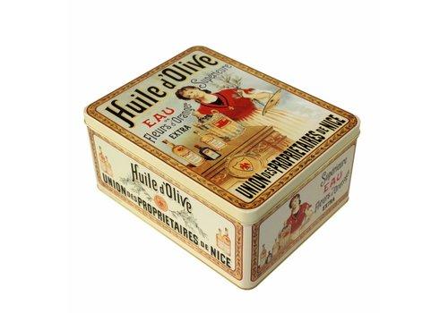 French Classics Large Metal Box 26x20xH12 cm Huile d'olive