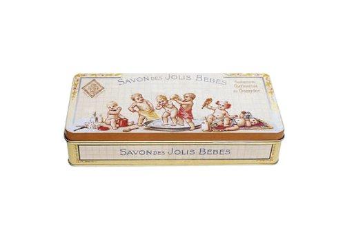 French Classics Franzosich Vintage Metallbox 19X9X4Cm Retro Werbung Schone Babys Seife