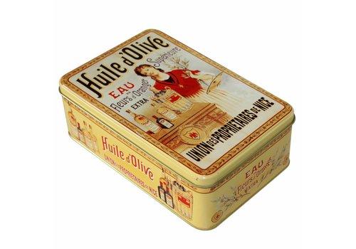 French Classics Tin Box 18x12xH7 cm Huile d'olive